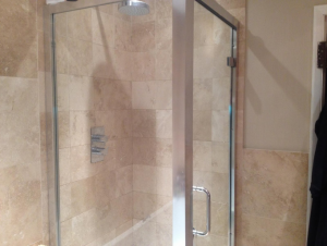 Shower enclosure valleybuild