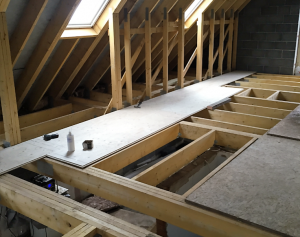 roof joists by valley build