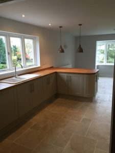 Fitted kitchen work done by Valley Carpenters